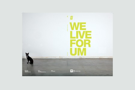 "Spread from Forum 2011 Dealerbook with the caption ""We Live For Um"""