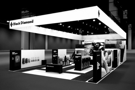 Photo of Black Diamond's trade-show booth