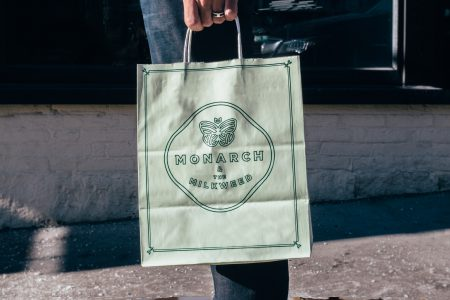 Monarch paper bag