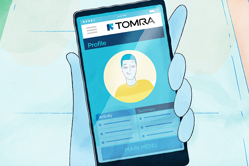 TOMRA React animation